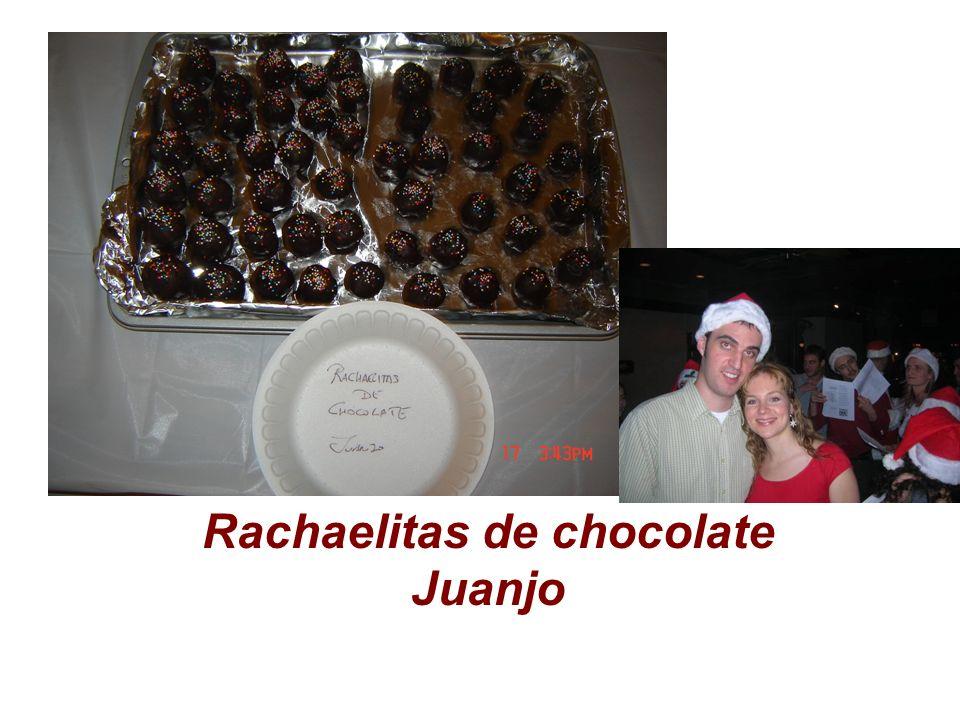 Rachaelitas de chocolate Juanjo