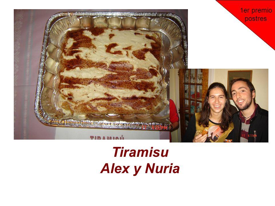 Tiramisu Alex y Nuria 1er premio postres