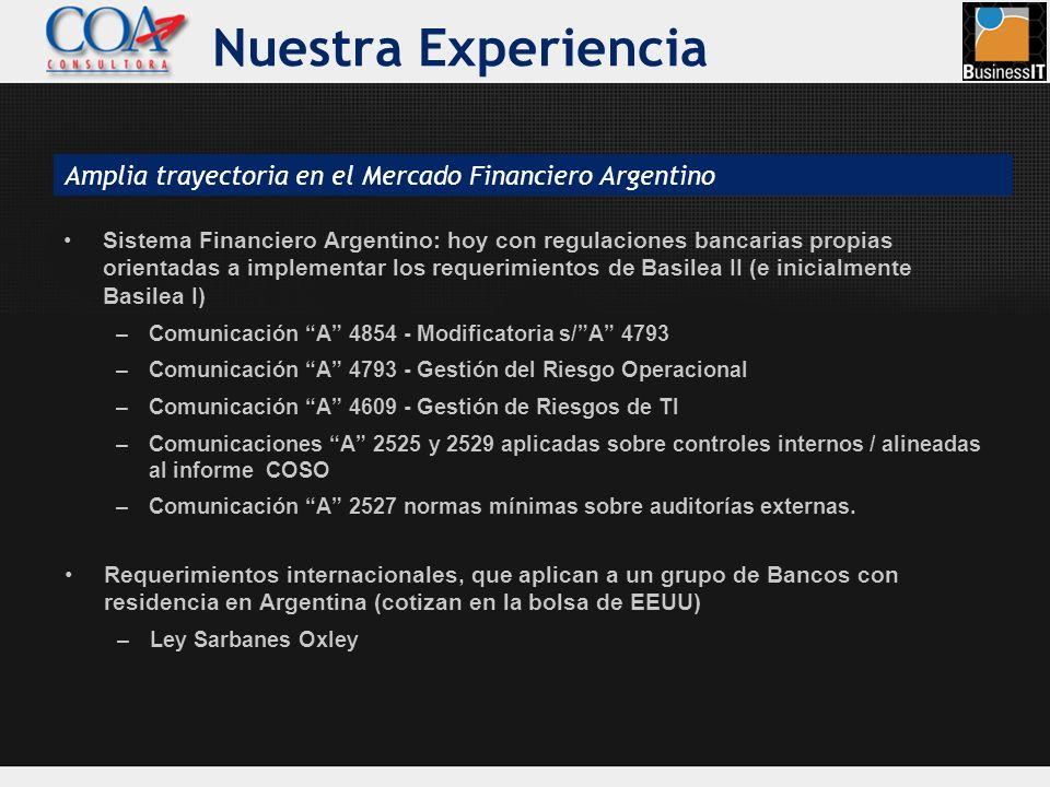 Nuestra Experiencia Sistema Financiero Argentino: hoy con regulaciones bancarias propias orientadas a implementar los requerimientos de Basilea II (e
