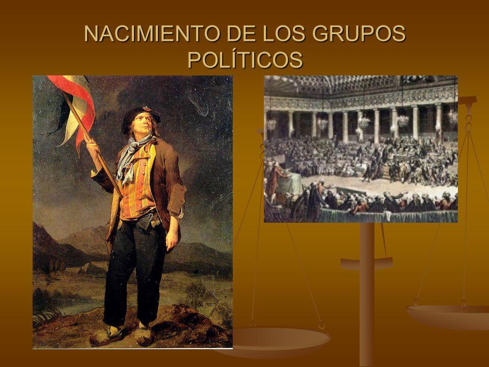 NACIMIENTO DE LOS GRUPOS POLÍTICOS