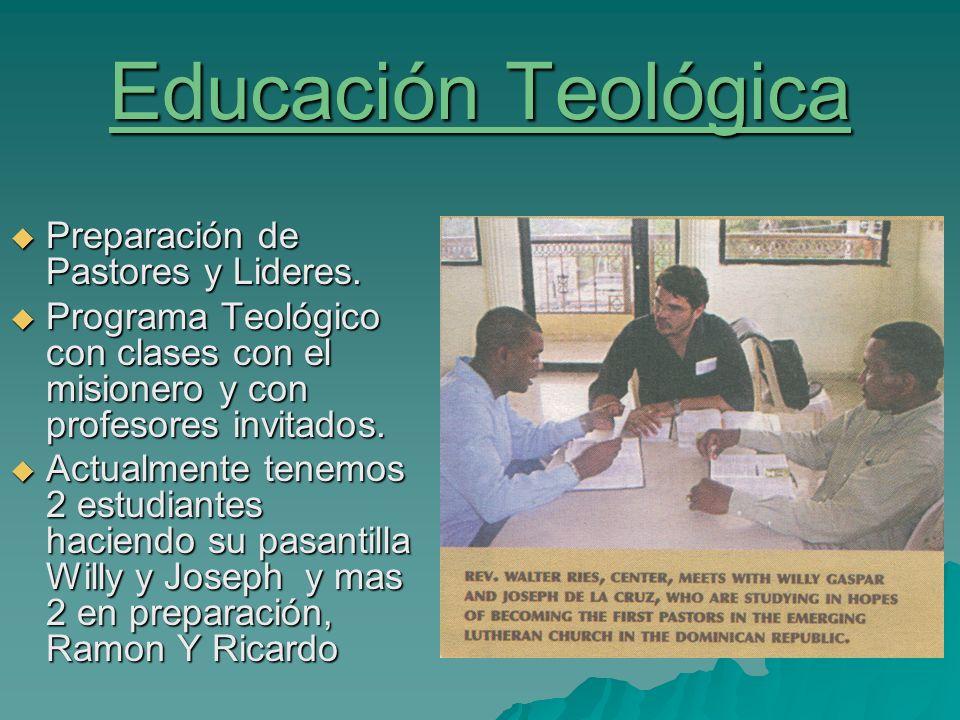Educación Teológica Preparación de Pastores y Lideres.