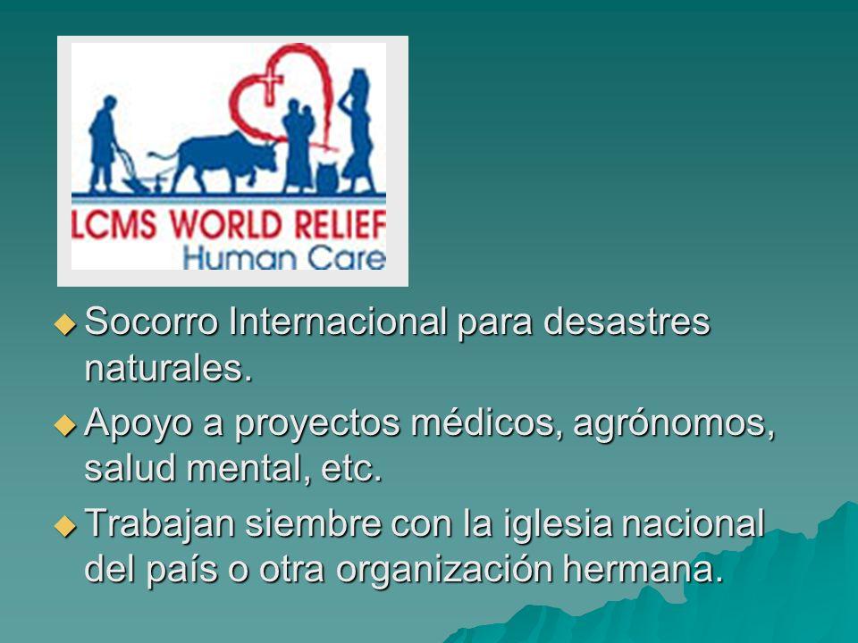 Socorro Internacional para desastres naturales.Socorro Internacional para desastres naturales.