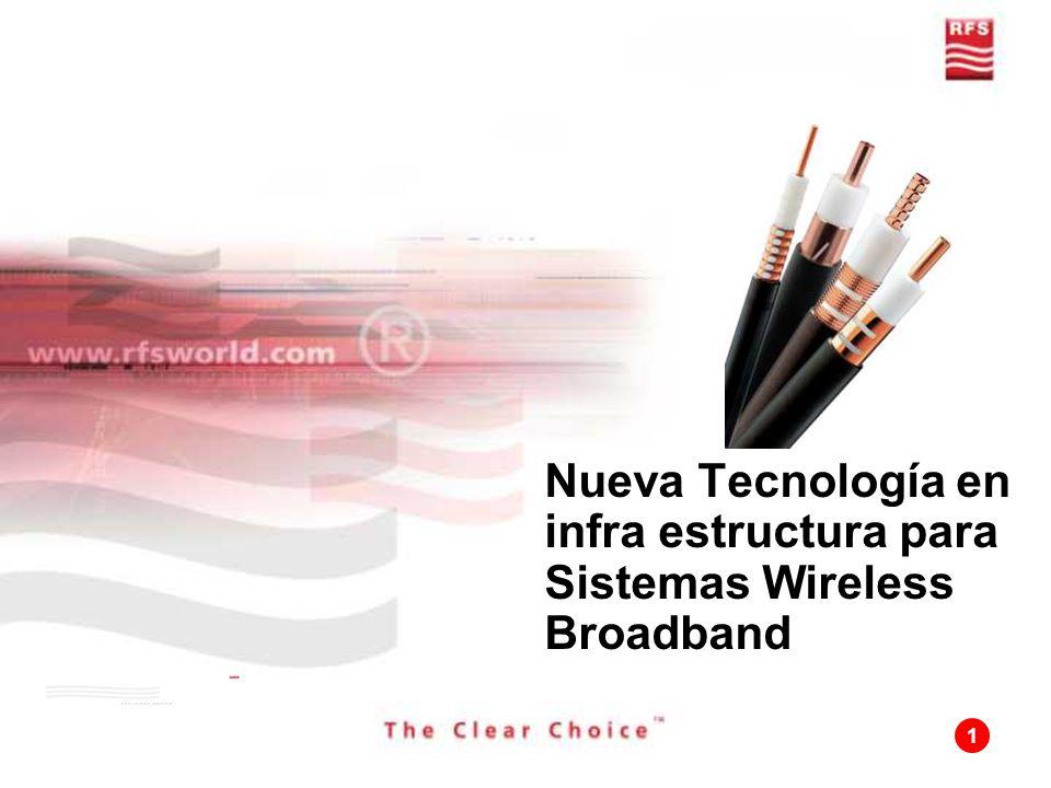 1 Nueva Tecnología en infra estructura para Sistemas Wireless Broadband