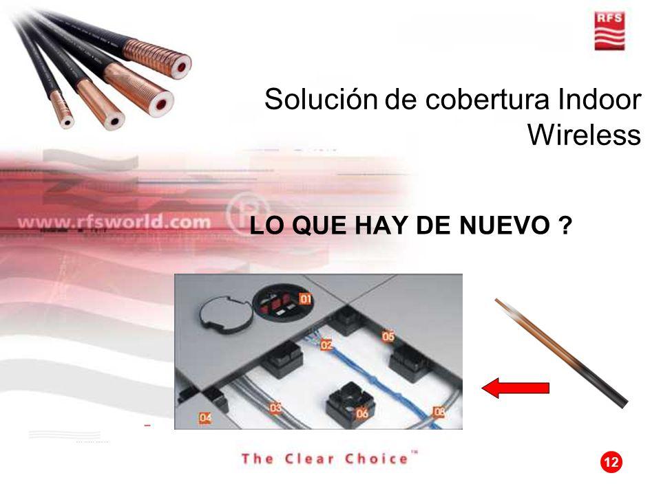 12 Solución de cobertura Indoor Wireless LO QUE HAY DE NUEVO ?
