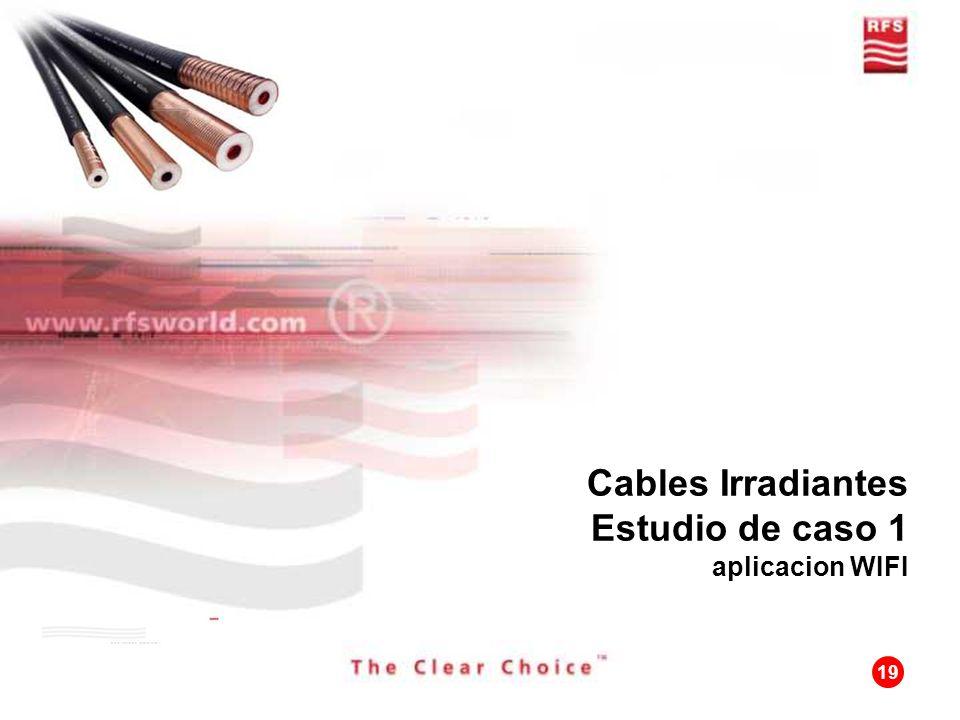 19 Cables Irradiantes Estudio de caso 1 aplicacion WIFI