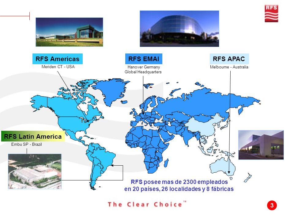 3 Meriden CT - USA Hanover Germany Global Headquarters Melbourne - Australia RFS AmericasRFS EMAIRFS APAC Embu SP - Brazil RFS Latin America RFS posee