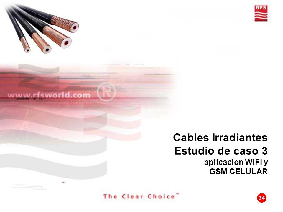34 Cables Irradiantes Estudio de caso 3 aplicacion WIFI y GSM CELULAR