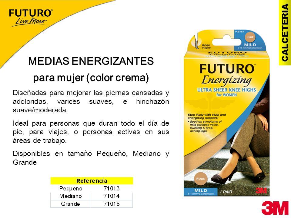 CALCETERIA MEDIAS ENERGIZANTES para mujer (color crema) Diseñadas para mejorar las piernas cansadas y adoloridas, varices suaves, e hinchazón suave/mo