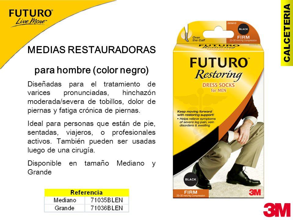 CALCETERIA MEDIAS RESTAURADORAS para hombre (color negro) Diseñadas para el tratamiento de varices pronunciadas, hinchazón moderada/severa de tobillos