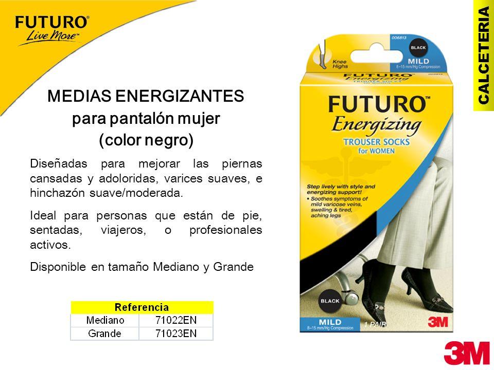 CALCETERIA MEDIAS ENERGIZANTES para pantalón mujer (color negro) Diseñadas para mejorar las piernas cansadas y adoloridas, varices suaves, e hinchazón
