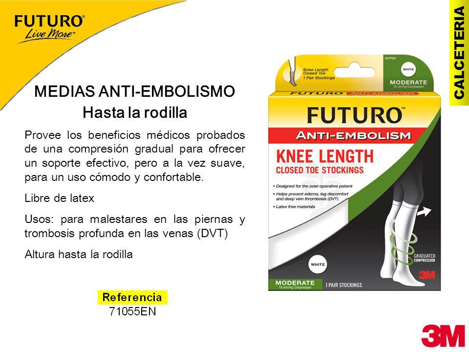 CALCETERIA MEDIAS ANTI-EMBOLISMO Hasta la rodilla Provee los beneficios médicos probados de una compresión gradual para ofrecer un soporte efectivo, p