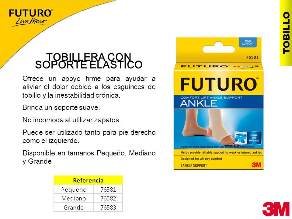 TOBILLERA CON SOPORTE ELASTICO Ofrece un apoyo firme para ayudar a aliviar el dolor debido a los esguinces de tobillo y la inestabilidad crónica. Brin