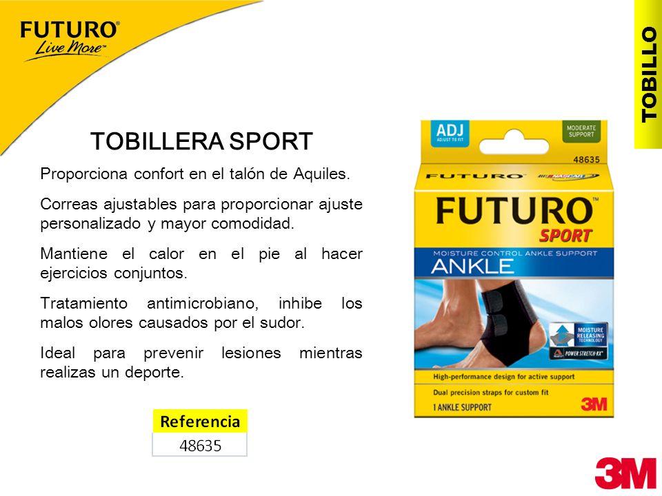 TOBILLERA SPORT Proporciona confort en el talón de Aquiles. Correas ajustables para proporcionar ajuste personalizado y mayor comodidad. Mantiene el c