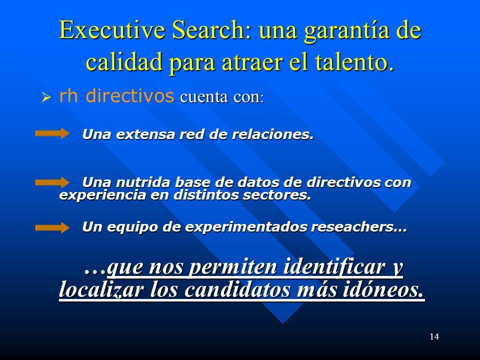 14 Executive Search: una garantía de calidad para atraer el talento.
