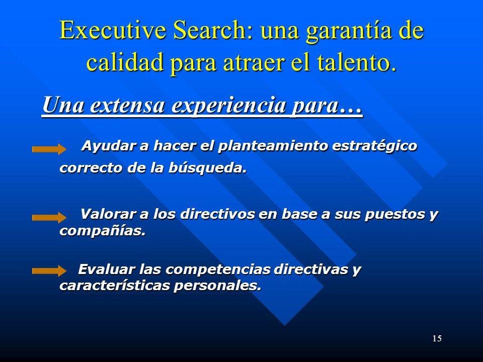 15 Executive Search: una garantía de calidad para atraer el talento.