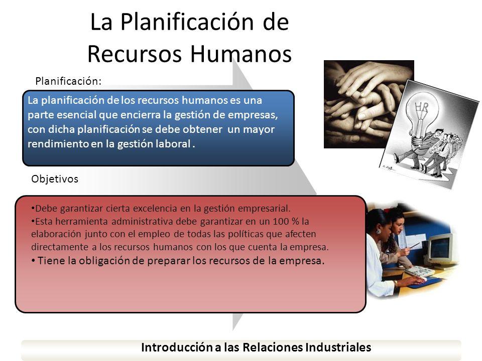 www.themegallery.com La Planificación de Recursos Humanos Introducción a las Relaciones Industriales Planificación: La planificación de los recursos h