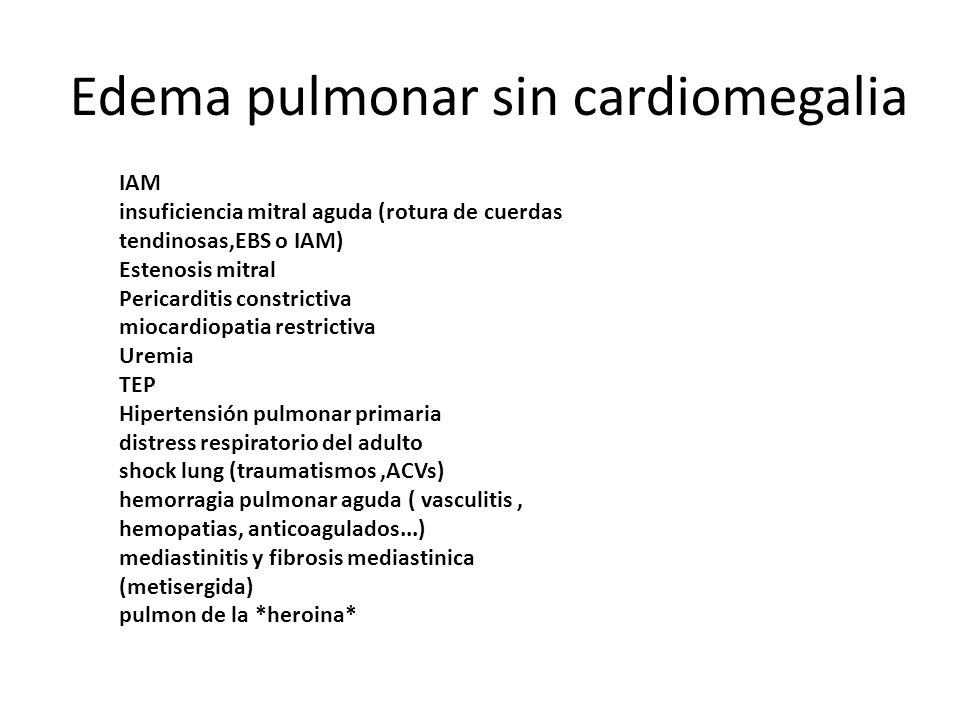 IAM insuficiencia mitral aguda (rotura de cuerdas tendinosas,EBS o IAM) Estenosis mitral Pericarditis constrictiva miocardiopatia restrictiva Uremia T