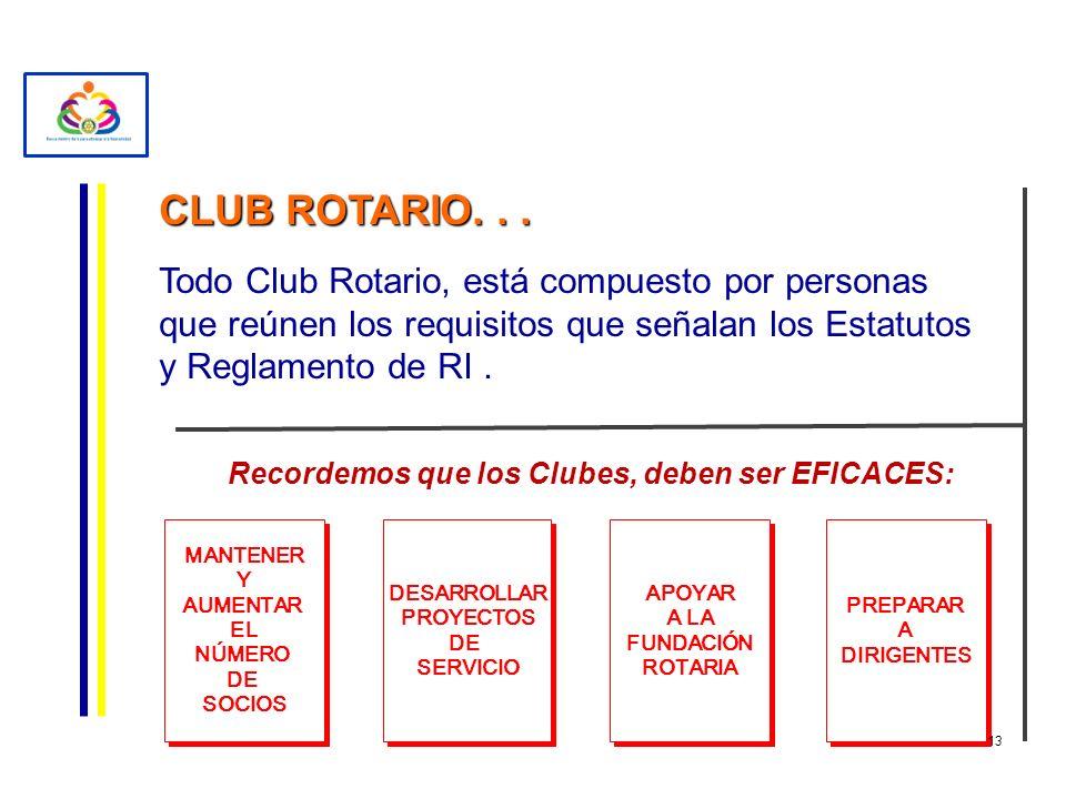 CLUB ROTARIO... Todo Club Rotario, está compuesto por personas que reúnen los requisitos que señalan los Estatutos y Reglamento de RI. Recordemos que