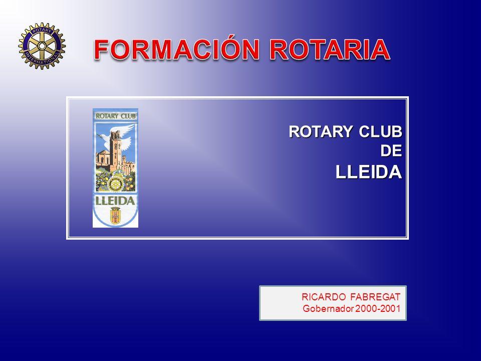 ROTARY CLUB DELLEIDA RICARDO FABREGAT Gobernador 2000-2001