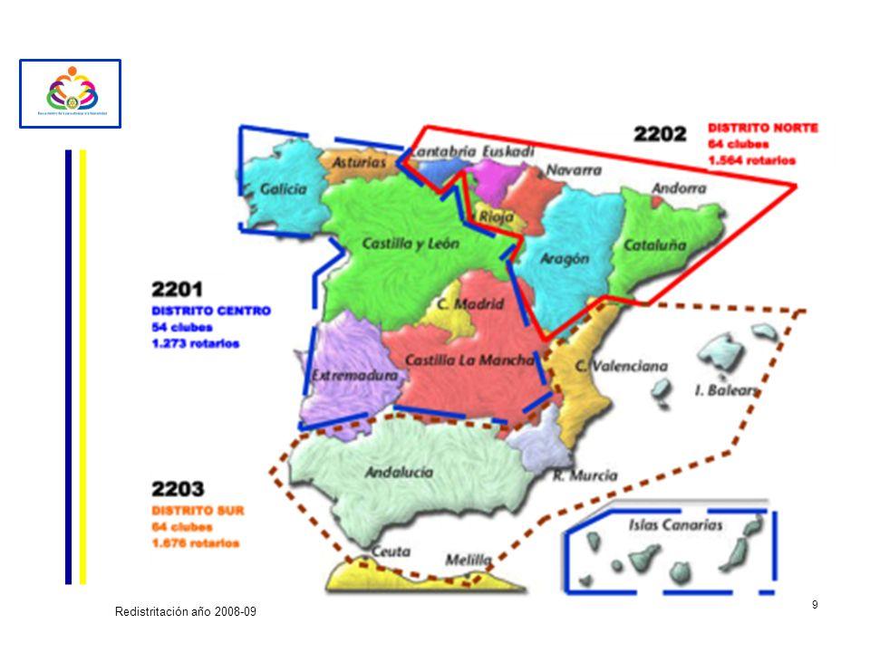 9 Redistritación año 2008-09