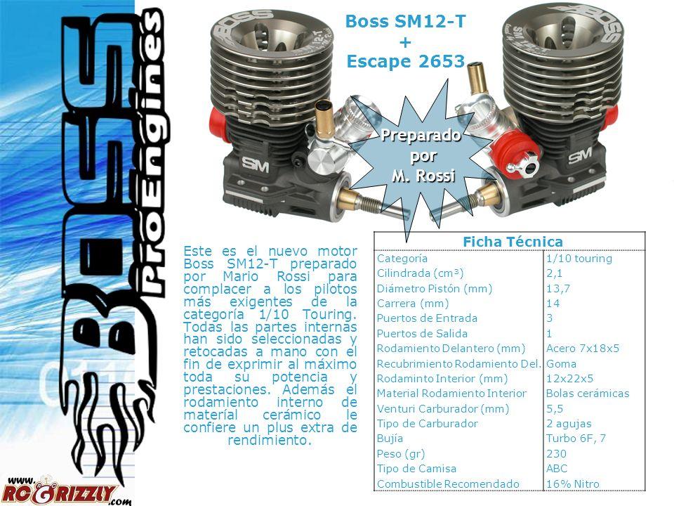 4 Preparado por por M. Rossi M. Rossi Este es el nuevo motor Boss SM12-T preparado por Mario Rossi para complacer a los pilotos más exigentes de la ca