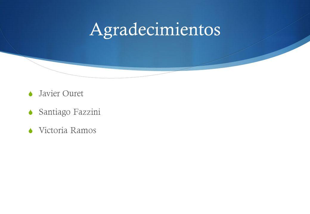 Agradecimientos Javier Ouret Santiago Fazzini Victoria Ramos