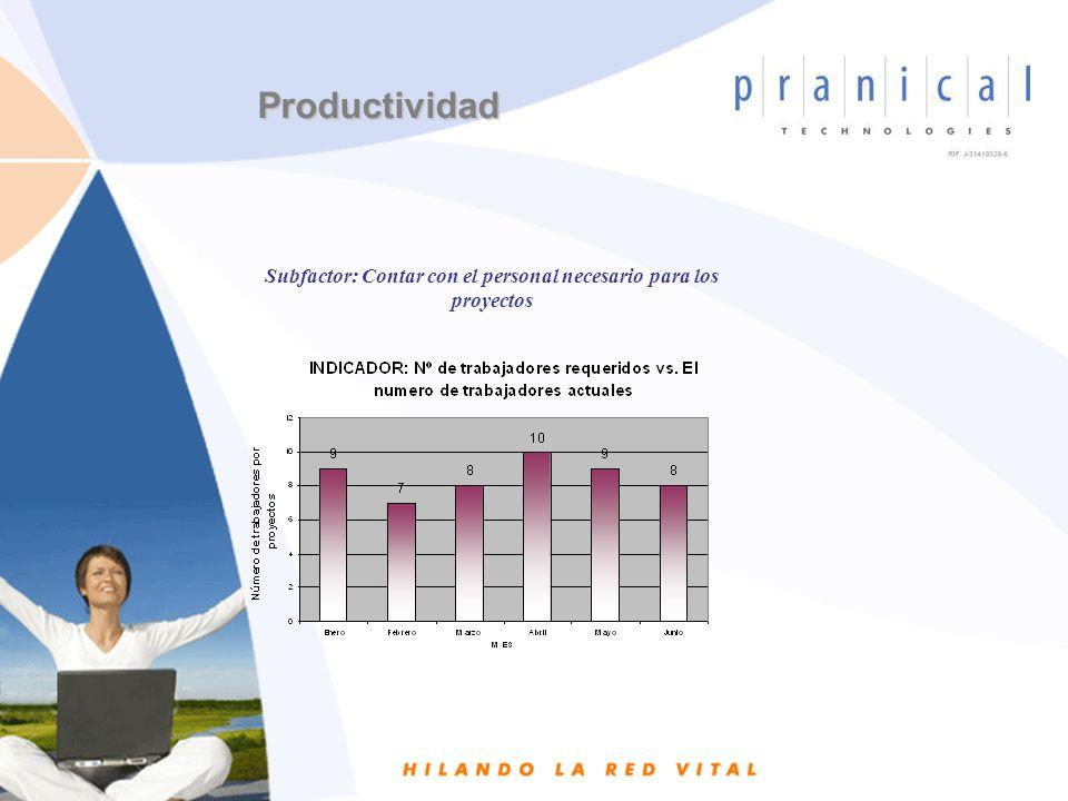 Subfactor: Contar con el personal necesario para los proyectos Productividad