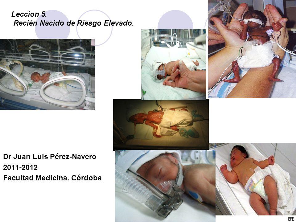 Leccion 5. Recién Nacido de Riesgo Elevado. Dr Juan Luis Pérez-Navero 2011-2012 Facultad Medicina. Córdoba