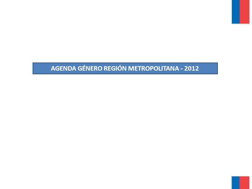 AGENDA GÉNERO REGIÓN METROPOLITANA - 2012