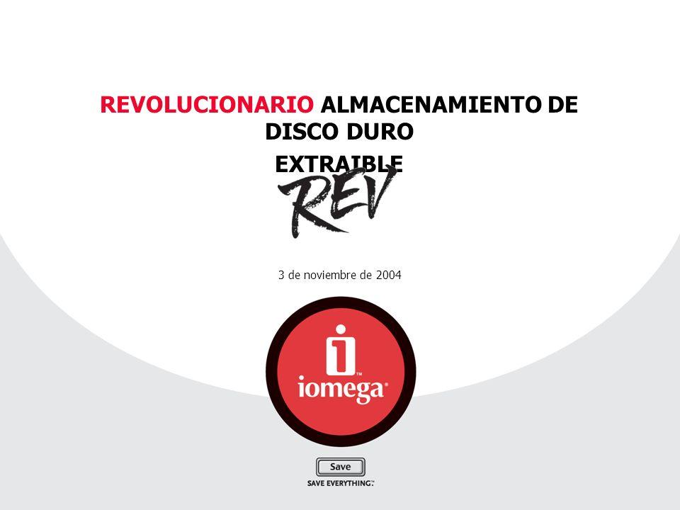 3 de noviembre de 2004 REVOLUCIONARIO ALMACENAMIENTO DE DISCO DURO EXTRAIBLE