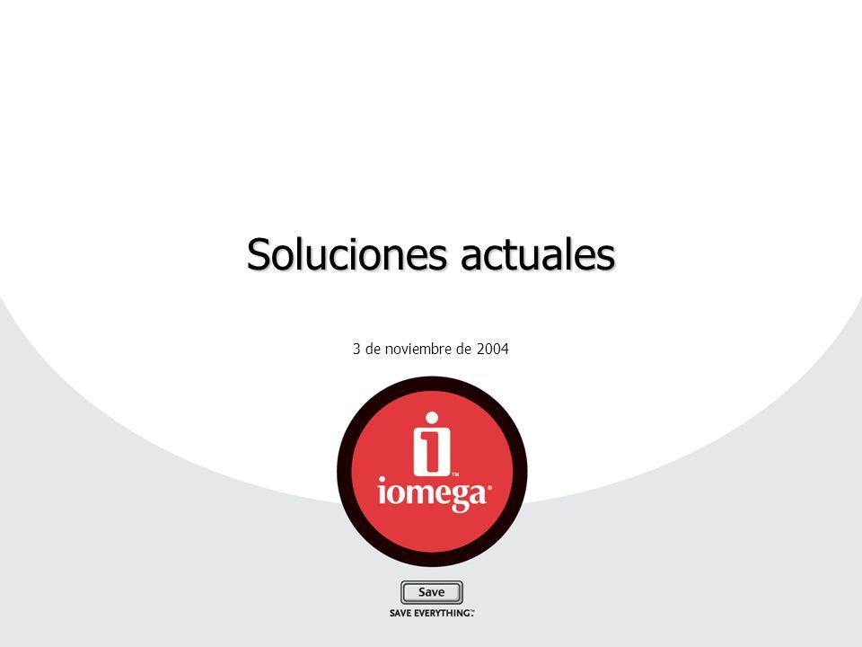 3 de noviembre de 2004 Soluciones actuales