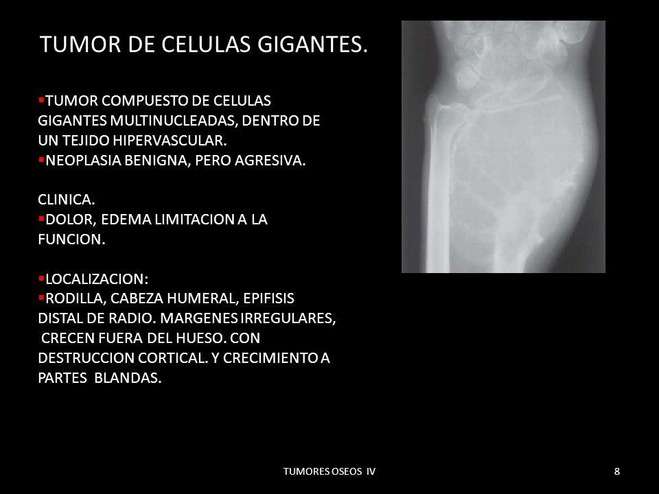 TUMOR DE CELULAS GIGANTES.MAYORES DE 18 AÑOS, ANTES CASI IMPOSIBLE.
