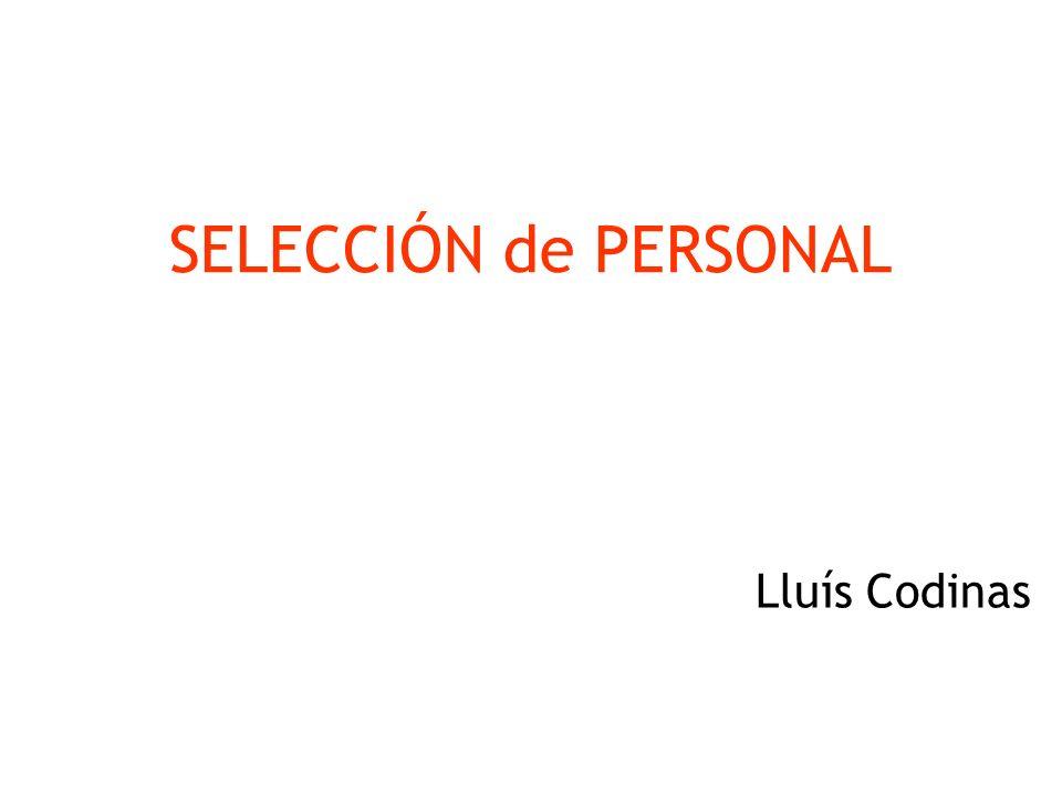SELECCIÓN de PERSONAL OBJECTIVOS: 1.- Saber aplicar la estrategia adecuada para el reclutamiento 2.- Conocer y saber aplicar un proceso de selección 3.- Cómo aplicar el marketing directo