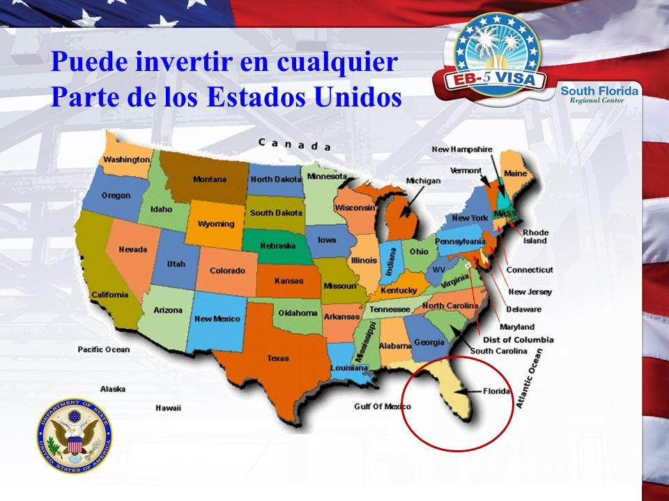 Puede invertir en cualquier Parte de los Estados Unidos