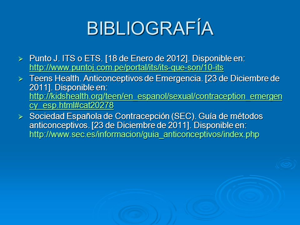 BIBLIOGRAFÍA Punto J. ITS o ETS. [18 de Enero de 2012]. Disponible en: http://www.puntoj.com.pe/portal/its/its-que-son/10-its Punto J. ITS o ETS. [18