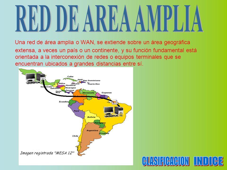 Una red de área amplia o WAN, se extiende sobre un área geográfica extensa, a veces un país o un continente, y su función fundamental está orientada a