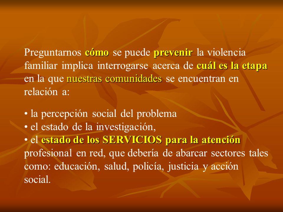 cómo prevenir cuál es la etapa nuestras comunidades Preguntarnos cómo se puede prevenir la violencia familiar implica interrogarse acerca de cuál es l