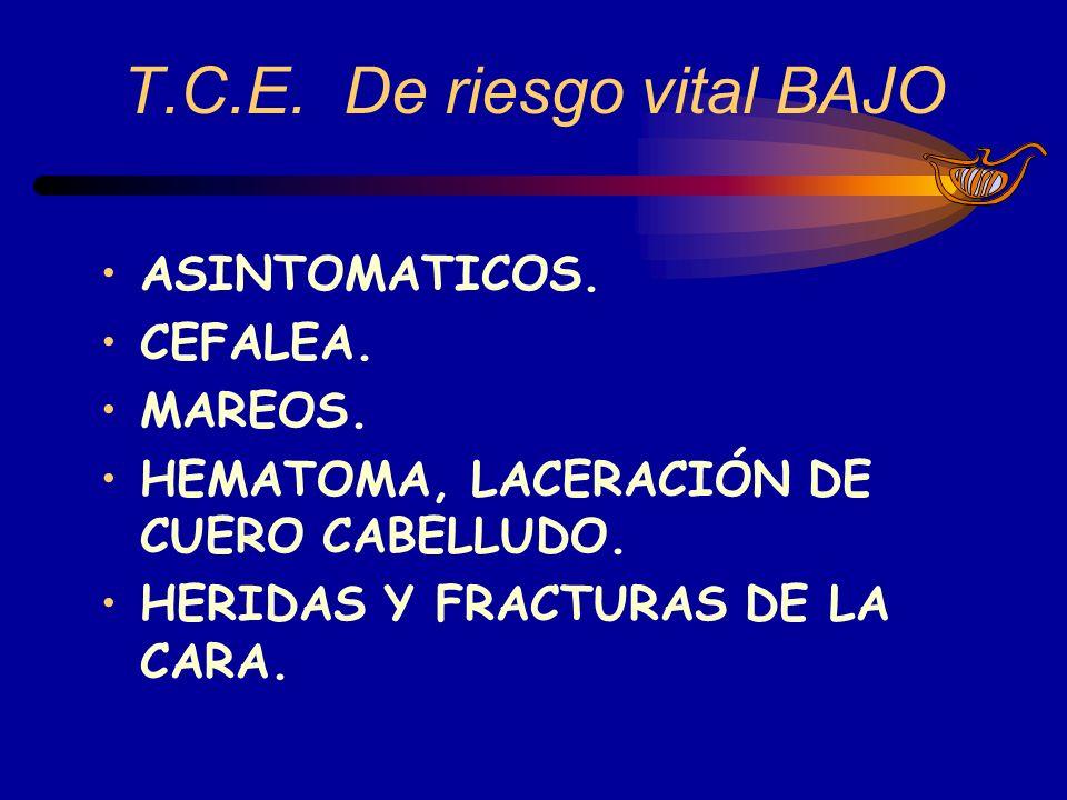 Evaluación Primaria del T.C.E.De riesgo vital ALTO A).- VIA AEREA Y CONTROL CERVICAL.
