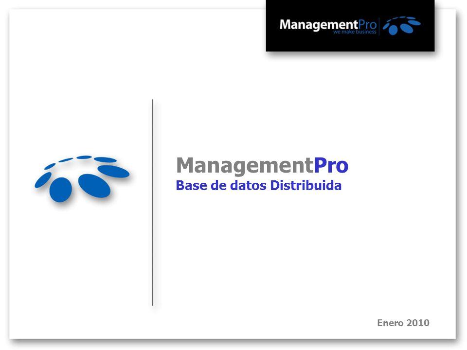 ManagementPro Base de datos Distribuida Enero 2010