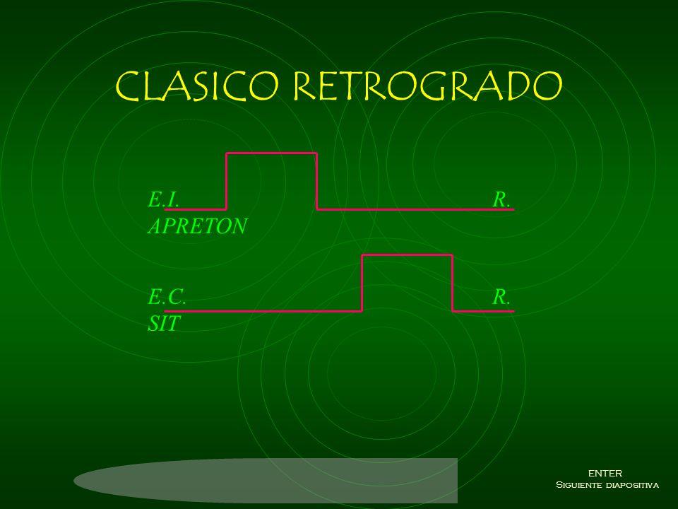 CLASICO DE HUELLA TIEMPO DE RESPUESTA E.C. R.SIT E.I. R. APRETON ENTER Siguiente diapositiva