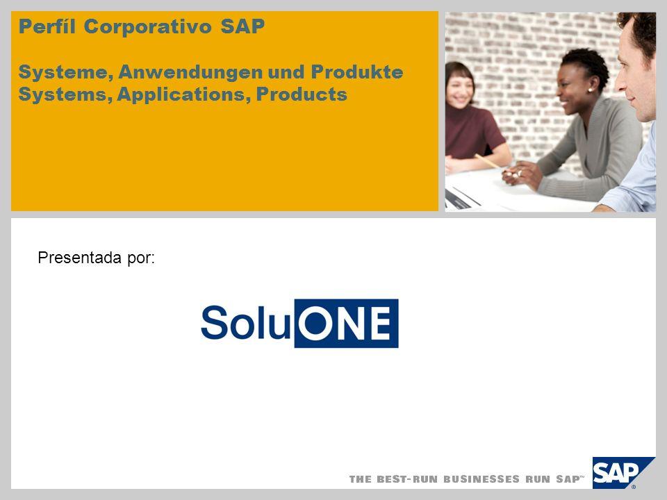 Perfíl Corporativo SAP Systeme, Anwendungen und Produkte Systems, Applications, Products Presentada por: