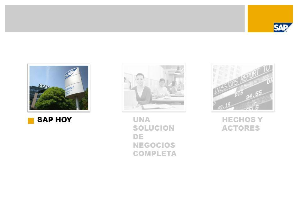 HECHOS Y ACTORES UNA SOLUCION DE NEGOCIOS COMPLETA SAP HOY