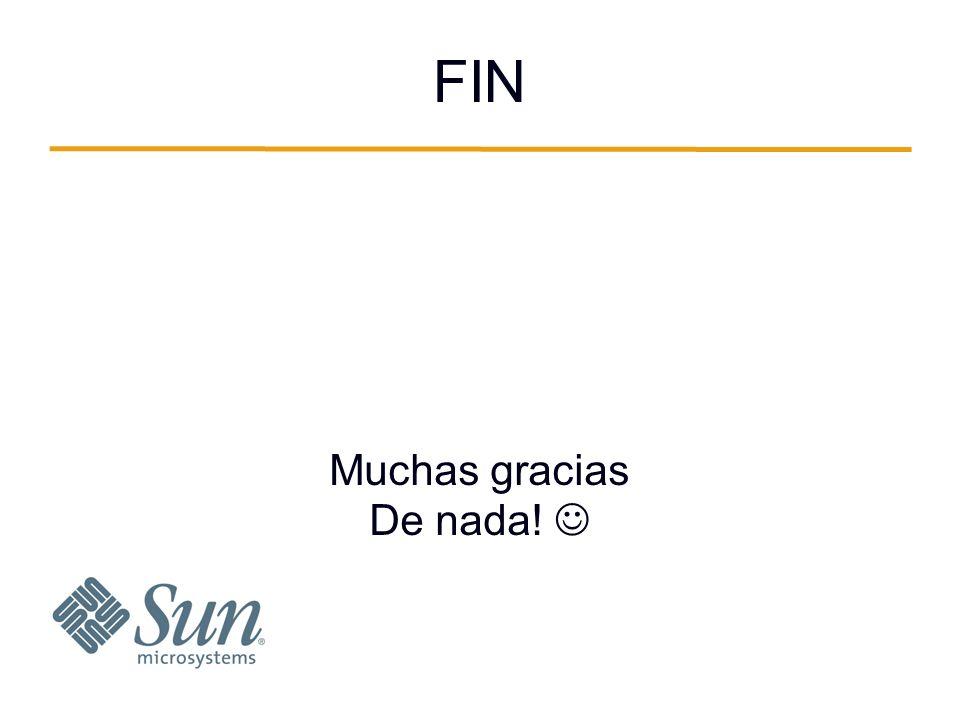 FIN Muchas gracias De nada!