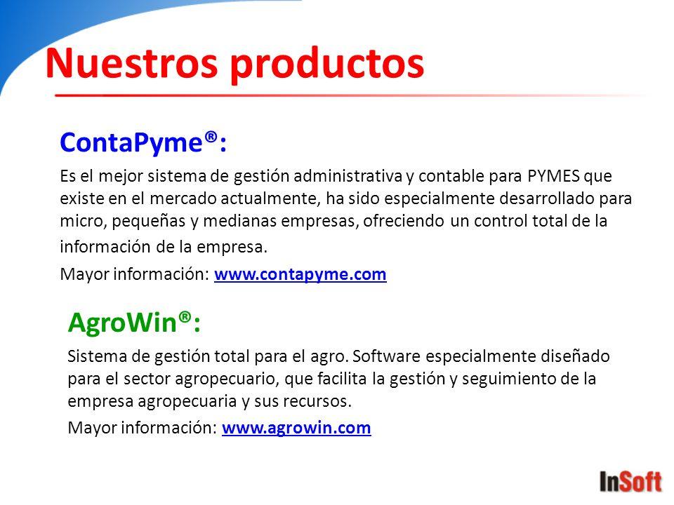 Nuestros productos ContaPyme®: Es el mejor sistema de gestión administrativa y contable para PYMES que existe en el mercado actualmente, ha sido espec