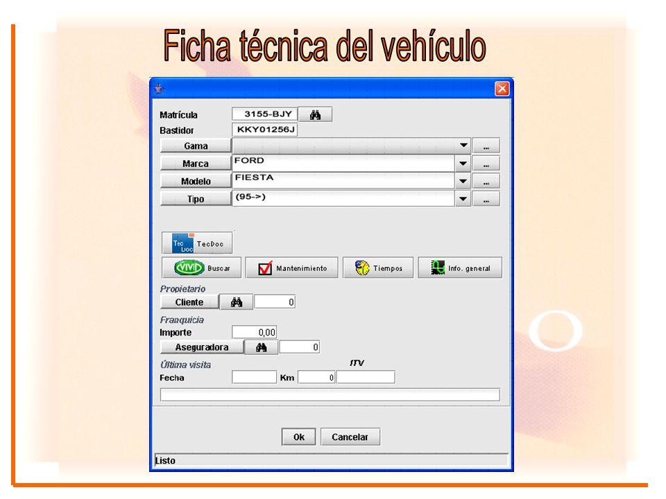 Desde la propia gestión de la orden de reparación, el usuario tiene acceso a toda la información de la base de datos sin tener que navegar por los diferentes menús.