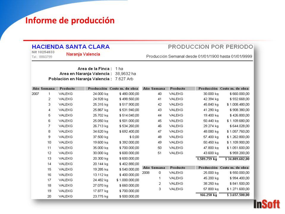 Informe de producción