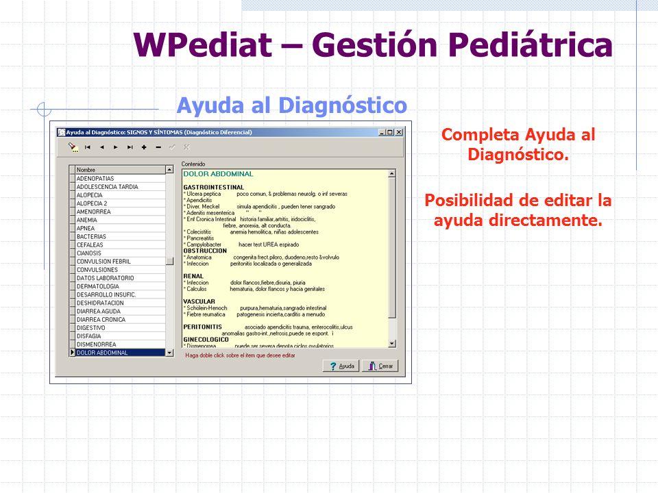 WPediat – Gestión Pediátrica Vademecun Completo Vademecun Búsqueda por preparados farmacológico y productos comerciales