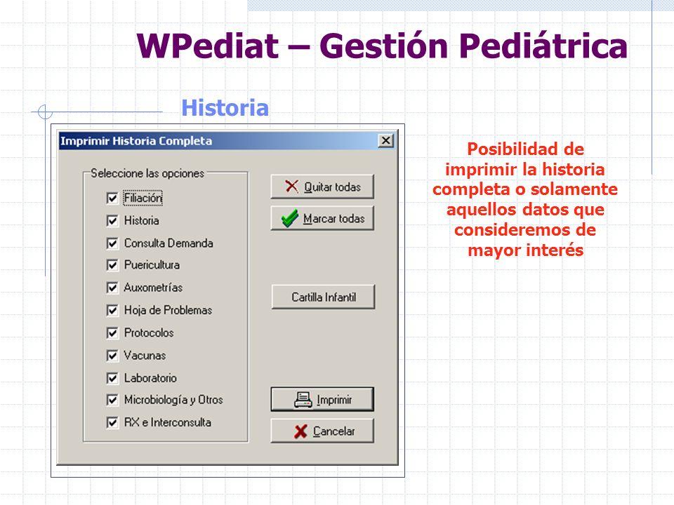 WPediat – Gestión Pediátrica Ayuda al Diagnóstico Completa Ayuda al Diagnóstico. Posibilidad de editar la ayuda directamente.