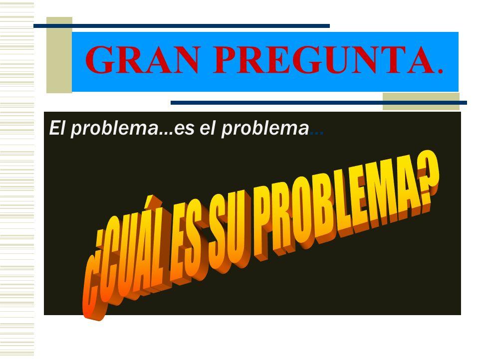 GRAN PREGUNTA. El problema...es el problema...