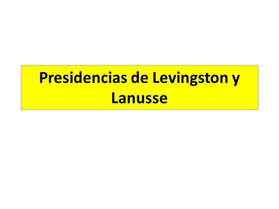 Presidencias de Levingston y Lanusse